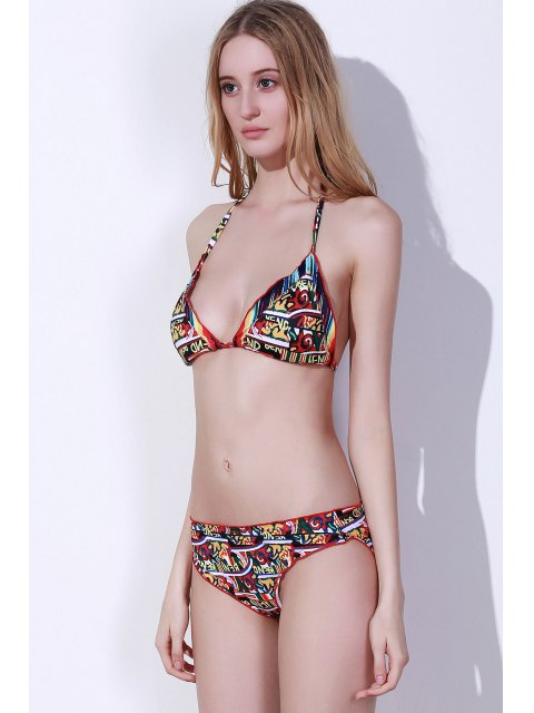 ladies Stringy Selvedge Colorful Bikini Set - COLORMIX S Mobile