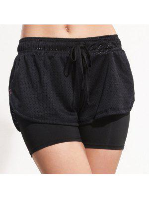Layered Yoga Sporty Shorts