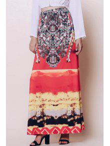 Bohemian Printed Loose Fitting Women's Skirt