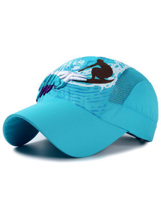 رسالة أنيقة التطريز الناس تصفح نمط قبعة بيسبول للأطفال - البحيرة الزرقاء