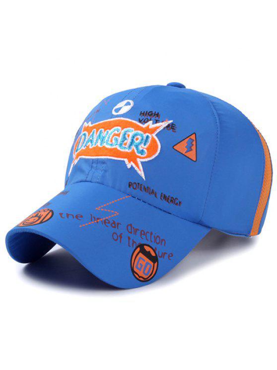رسالة أنيقة التطريز نمط الزحف قبعة بيسبول للأطفال - أزرق
