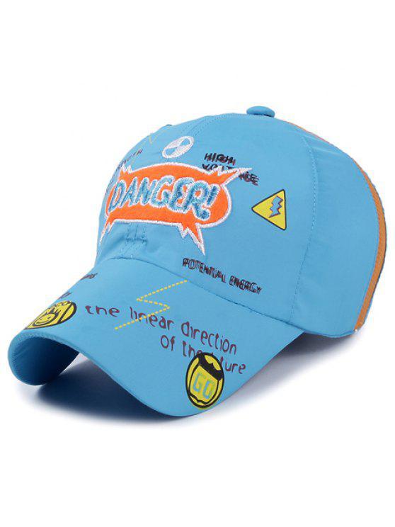 رسالة أنيقة التطريز نمط الزحف قبعة بيسبول للأطفال - البحيرة الزرقاء