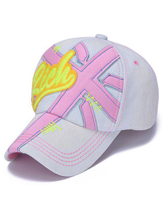 أنيق شكل إلكتروني وزين مزين الجينز قبعة بيسبول للأطفال - وردي فاتح