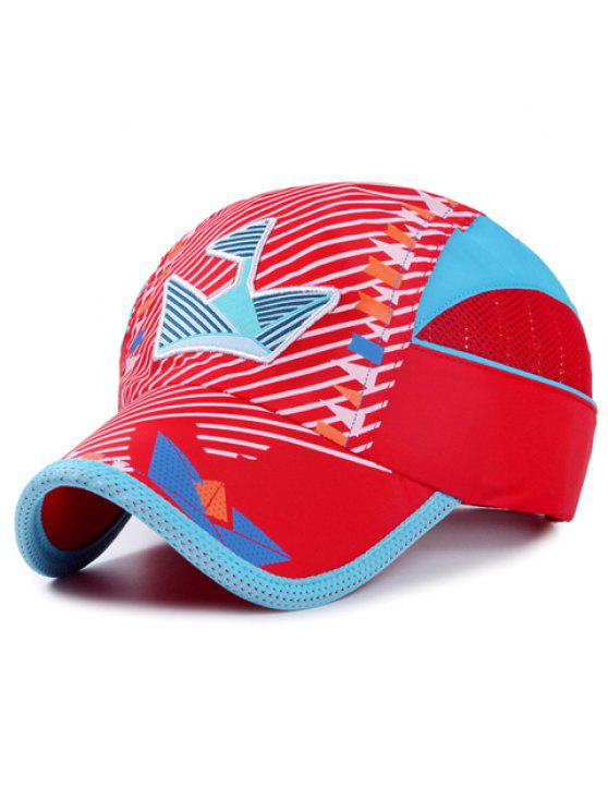 أنيقة التطريز حك و العلم الصغير نمط قبعة بيسبول للأطفال - أحمر