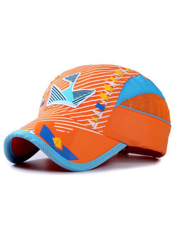 أنيقة التطريز حك و العلم الصغير نمط قبعة بيسبول للأطفال - البرتقالي
