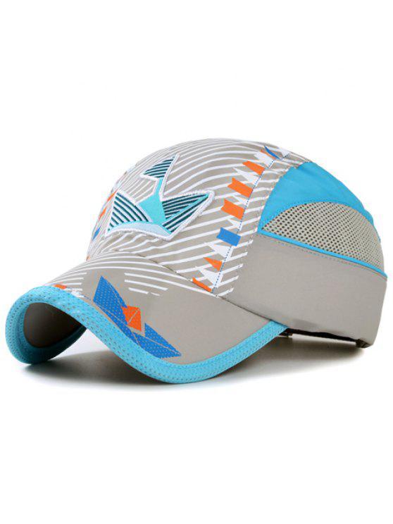 أنيقة التطريز حك و العلم الصغير نمط قبعة بيسبول للأطفال - اللون الرمادي