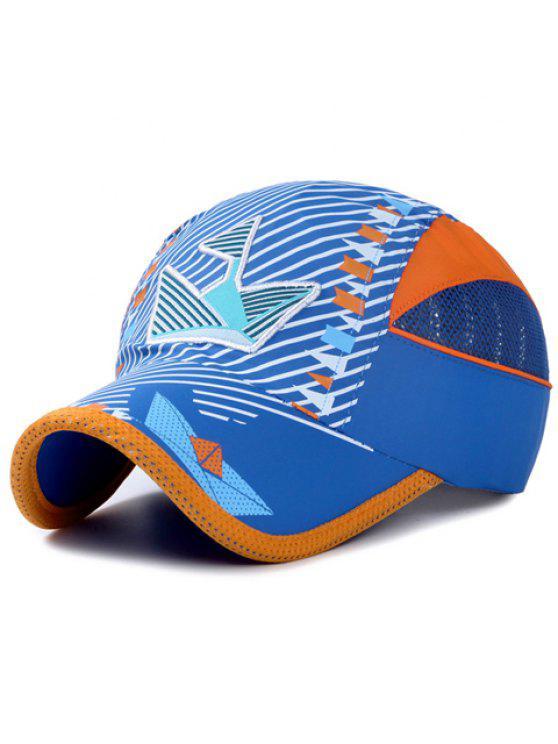 أنيقة التطريز حك و العلم الصغير نمط قبعة بيسبول للأطفال - أزرق