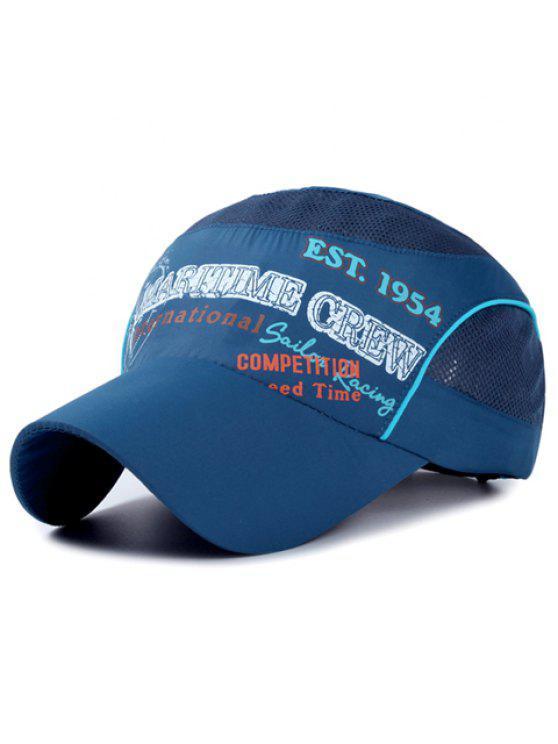 أنيقة خطابات والبوصلة نمط تنفس صافي الربط قبعة بيسبول للأطفال - ازرق غامق