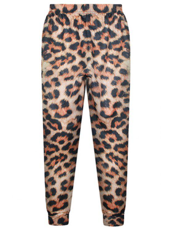 Mode taille élastique imprimé léopard pantalons pour femmes - Léopard Taille Unique(S'adap