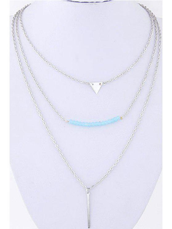 unique Three Layered Pendant Necklace - SILVER