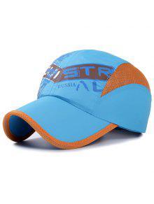أنيقة خطابات نمط تنفس صافي الربط قبعة بيسبول للأطفال - البحيرة الزرقاء