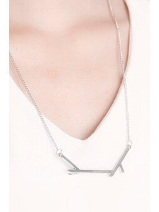 women Tree Branch Pendant Necklace - SILVER