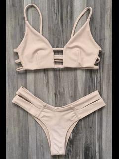 Abdeckung Bandage Bikini Bademode - Fleischfarben Xl