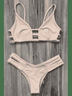 Bandage Bikini Badeanzug - Fleischfarben Xl