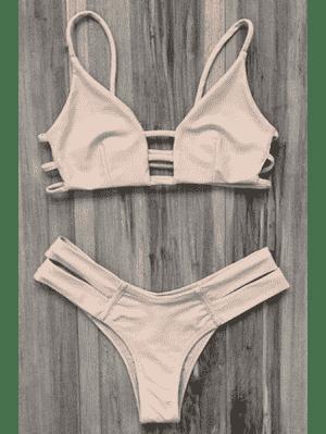 Maillot de Bain Bikini Bandeau Style Cage