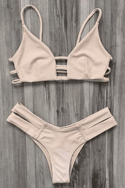 Caged Bandage Bikini Swimwear