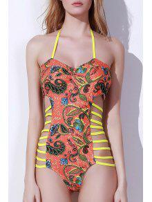 الطوطم طباعة عالية قطع قطعة واحدة ملابس السباحة - S