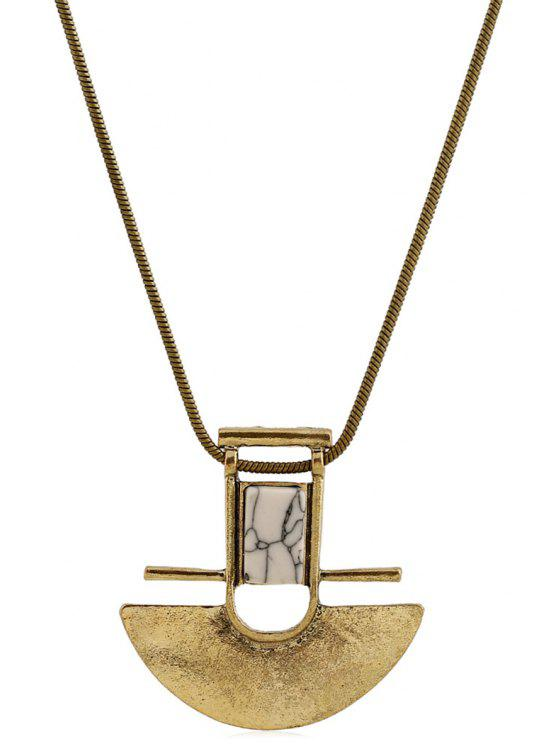 sale Arch Shape Pendant Necklace - GOLDEN