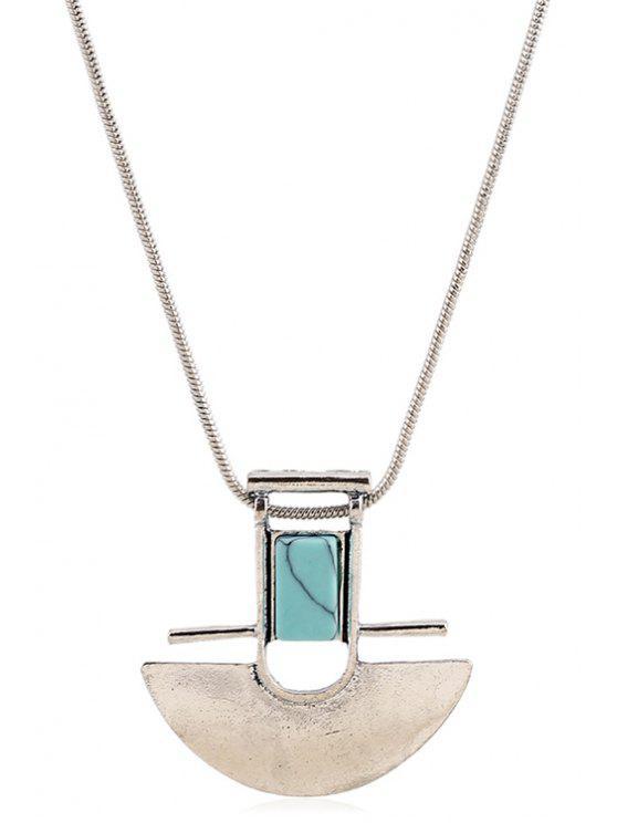 unique Arch Shape Pendant Necklace - SILVER