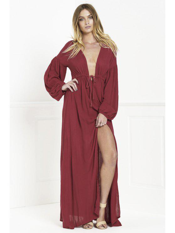 hot Whatta Babe Dress - WINE RED S