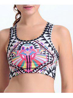 Printed Active Bra - S