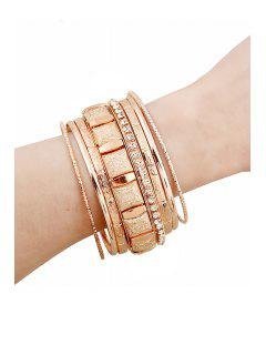 Rhinestone Solid Color Bracelets - Rose Gold