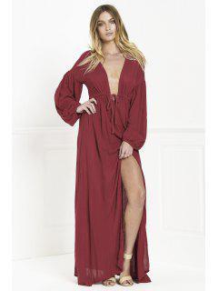Whatta Babe Dress - Wine Red S