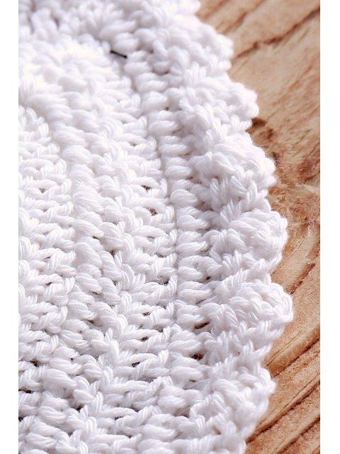 sale Printed Crochet Bikini Swimwear - WHITE ONE SIZE(FIT SIZE XS TO M) Mobile