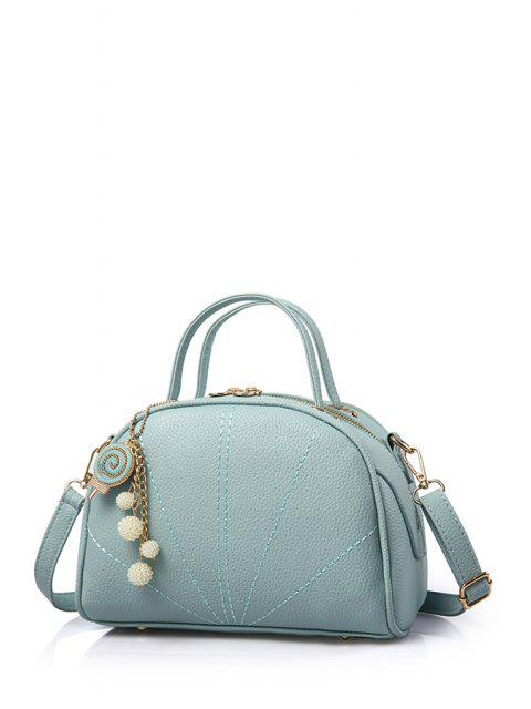 womens Pendant Stitching Candy Color Tote Bag - LIGHT BLUE  Mobile