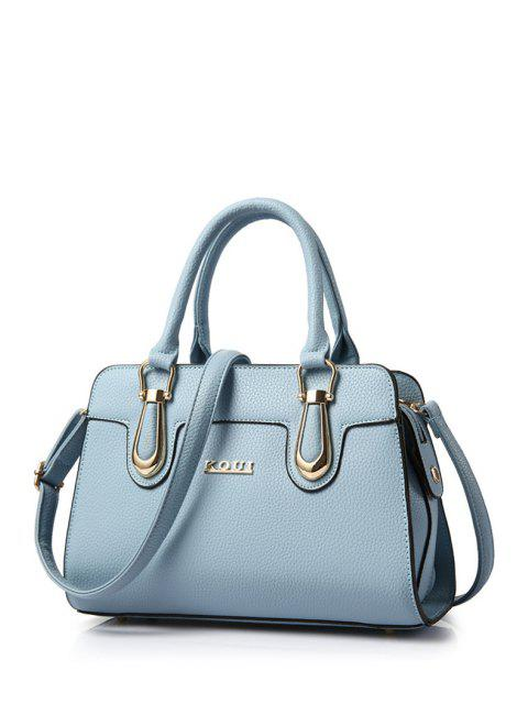 hot Metal Letter Solid Colour Tote Bag -   Mobile