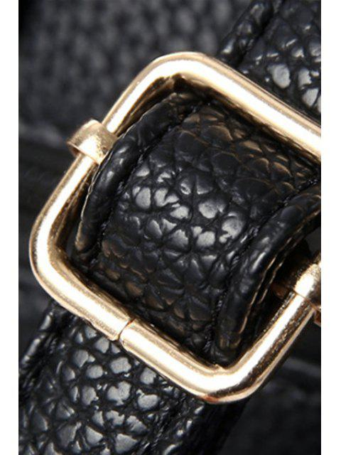 Sac à main couleur pure avec lettre métallique - Jaune  Mobile