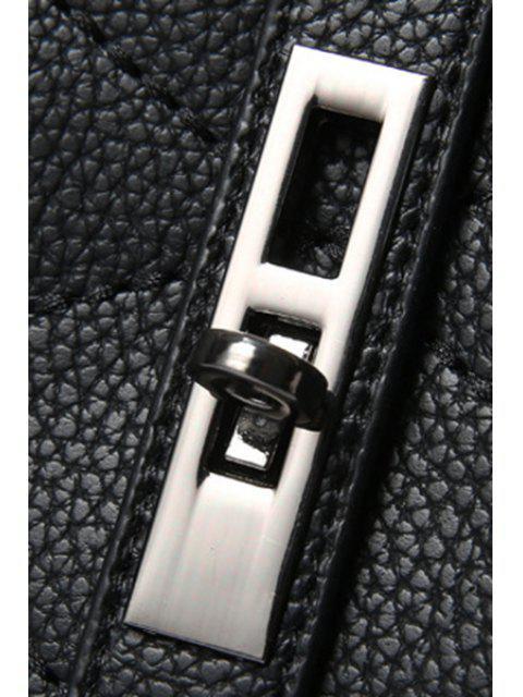 Pompon Vérifié cuir PU Sac fourre-tout - Bleu clair  Mobile