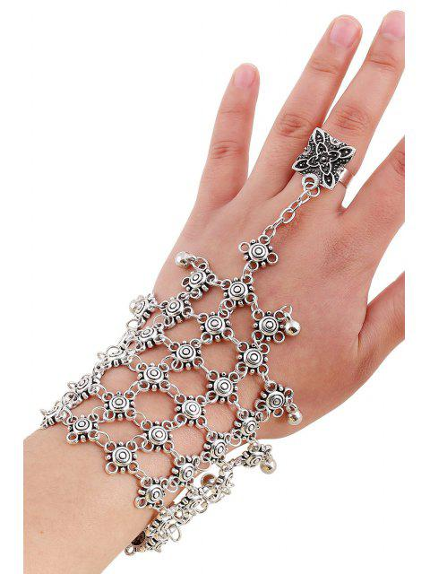 shop Bead Hollow Plaid Bracelet and Ring -   Mobile