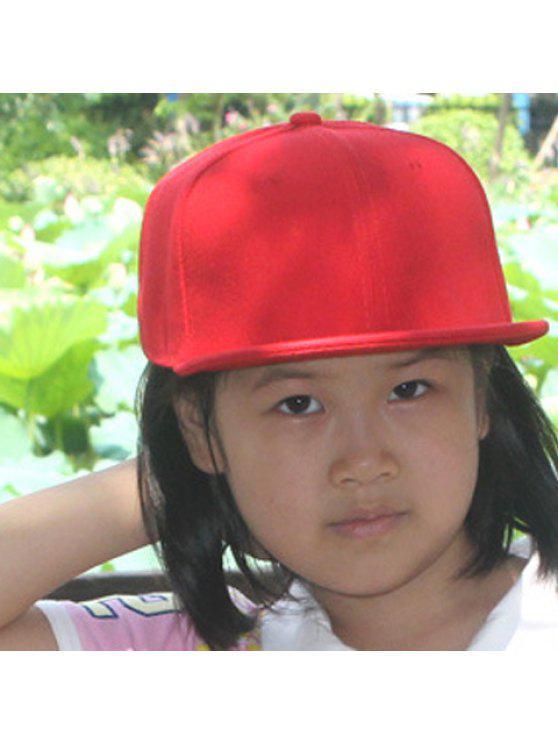 أنيق بلون قبعة بيسبول للبنات - أحمر