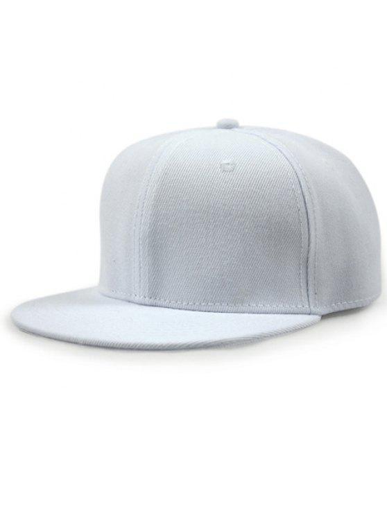 أنيق بلون قبعة بيسبول للبنات - أبيض