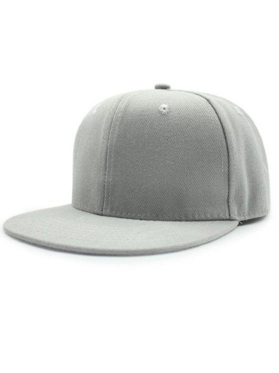 أنيق بلون قبعة بيسبول للبنات - رمادي فاتح