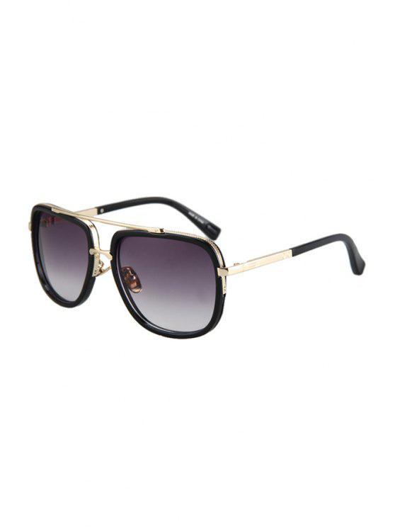 unique Alloy Match Quadrate Frame Sunglasses - PURPLE