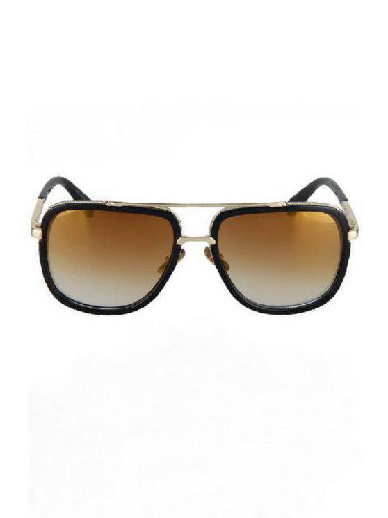 trendy Alloy Match Quadrate Frame Sunglasses - LIGHT COFFEE