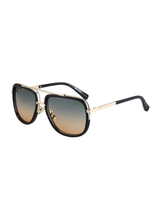 Aleación de partido lentes de color gradual gafas de sol - Té