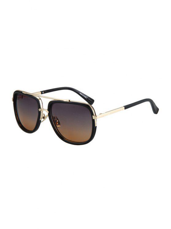 shop Alloy Match Gradual Color Lenses Sunglasses - GRAY