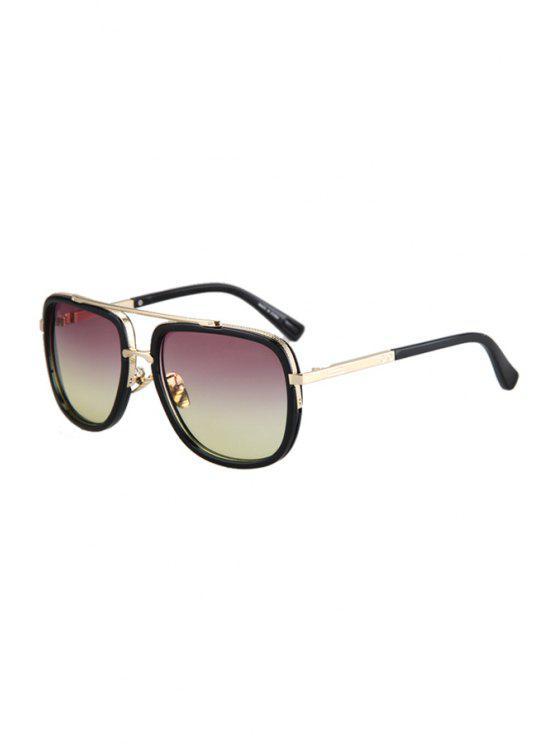 outfits Alloy Match Gradual Color Lenses Sunglasses - PINK