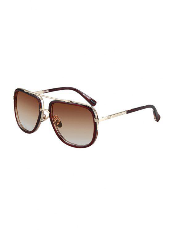 Gafas de sol del marco de la aleación del partido del té coloreadas - Té