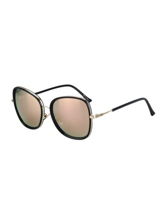 Aleación de ajuste de gafas de sol negras grandes del capítulo - Rosa