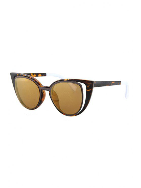 chic Hollow Out Frame Flecky Sunglasses - LIGHT BROWN