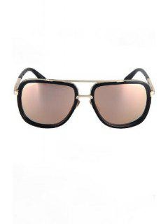 Alloy Match Quadrate Frame Sunglasses - Pink