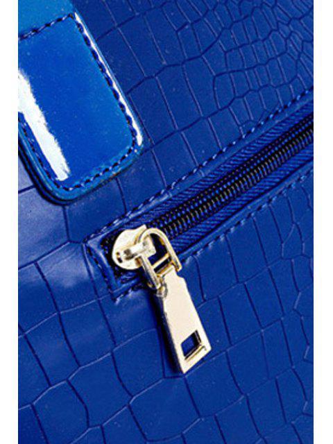 online Metal Letters Crocodile Print Shoulder Bag -   Mobile