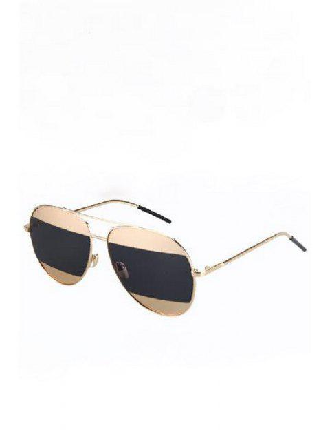 buy Irregular Lenses Golden Alloy Sunglasses - BLACK  Mobile