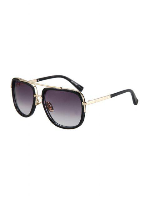 unique Alloy Match Quadrate Frame Sunglasses - PURPLE  Mobile