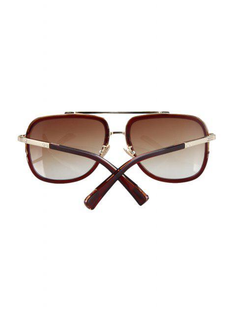 online Alloy Match Tea-Colored Frame Sunglasses - TEA-COLORED  Mobile