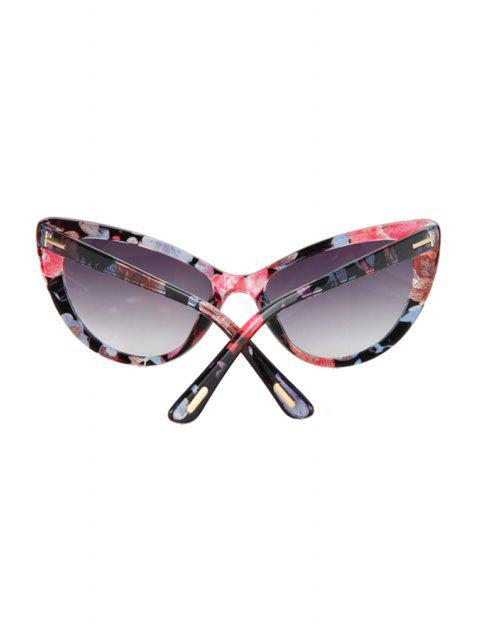 latest Letter T Shape Inlay Flower Sunglasses -   Mobile